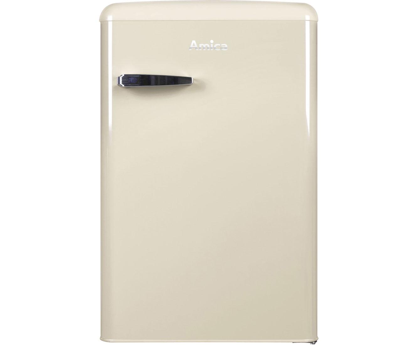 Retro Kühlschrank Weiss : Amica vks 15625 b kühlschrank beige retro design a