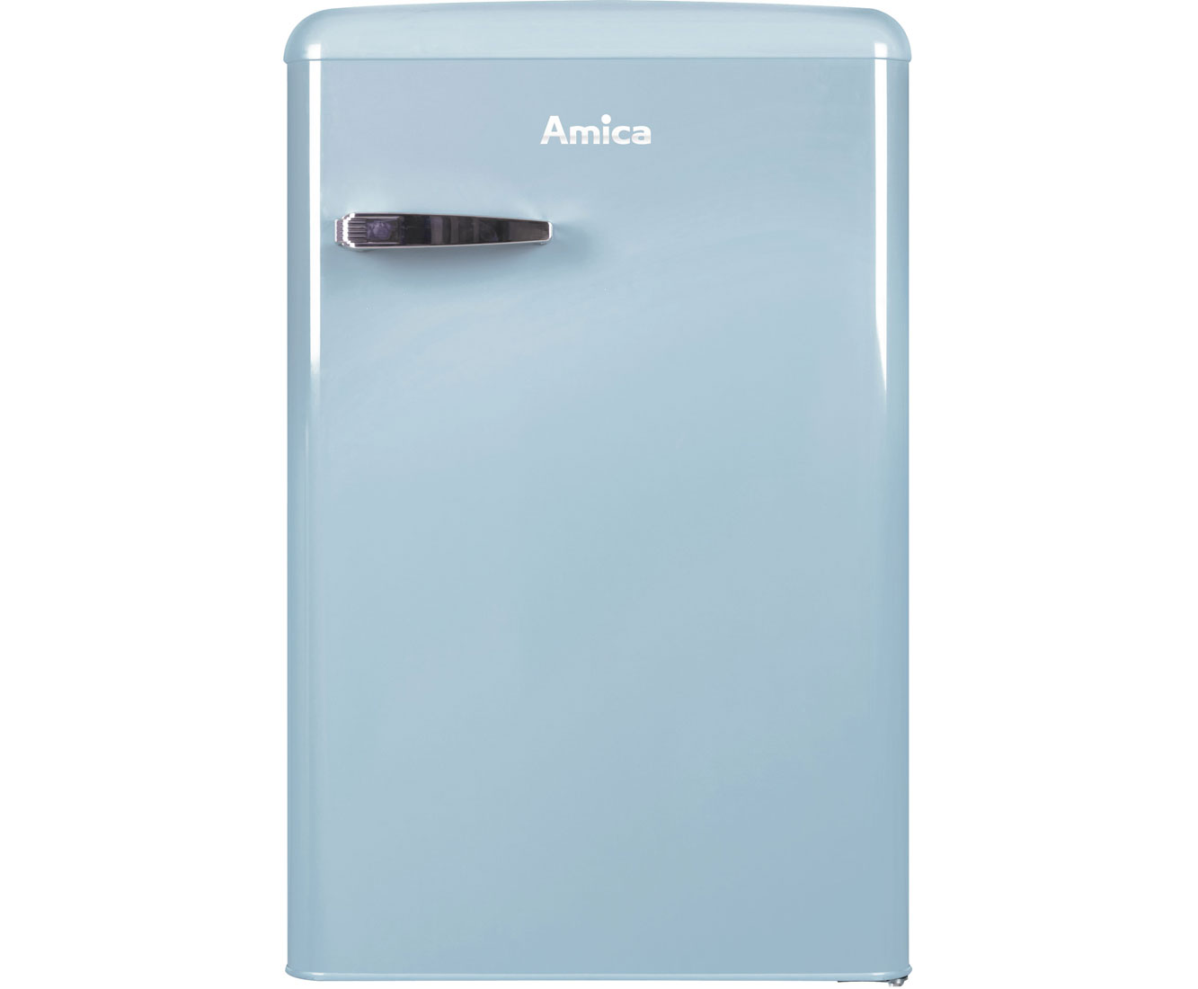 Amica Kühlschrank Mit Gefrierfach Retro : Amica vks 15626 l kühlschrank blau retro design a
