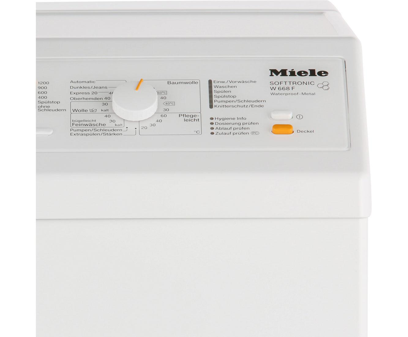 Miele W 668 F Wpm Waschmaschine Weiß Toplader 6 Kg 1200 U Min A