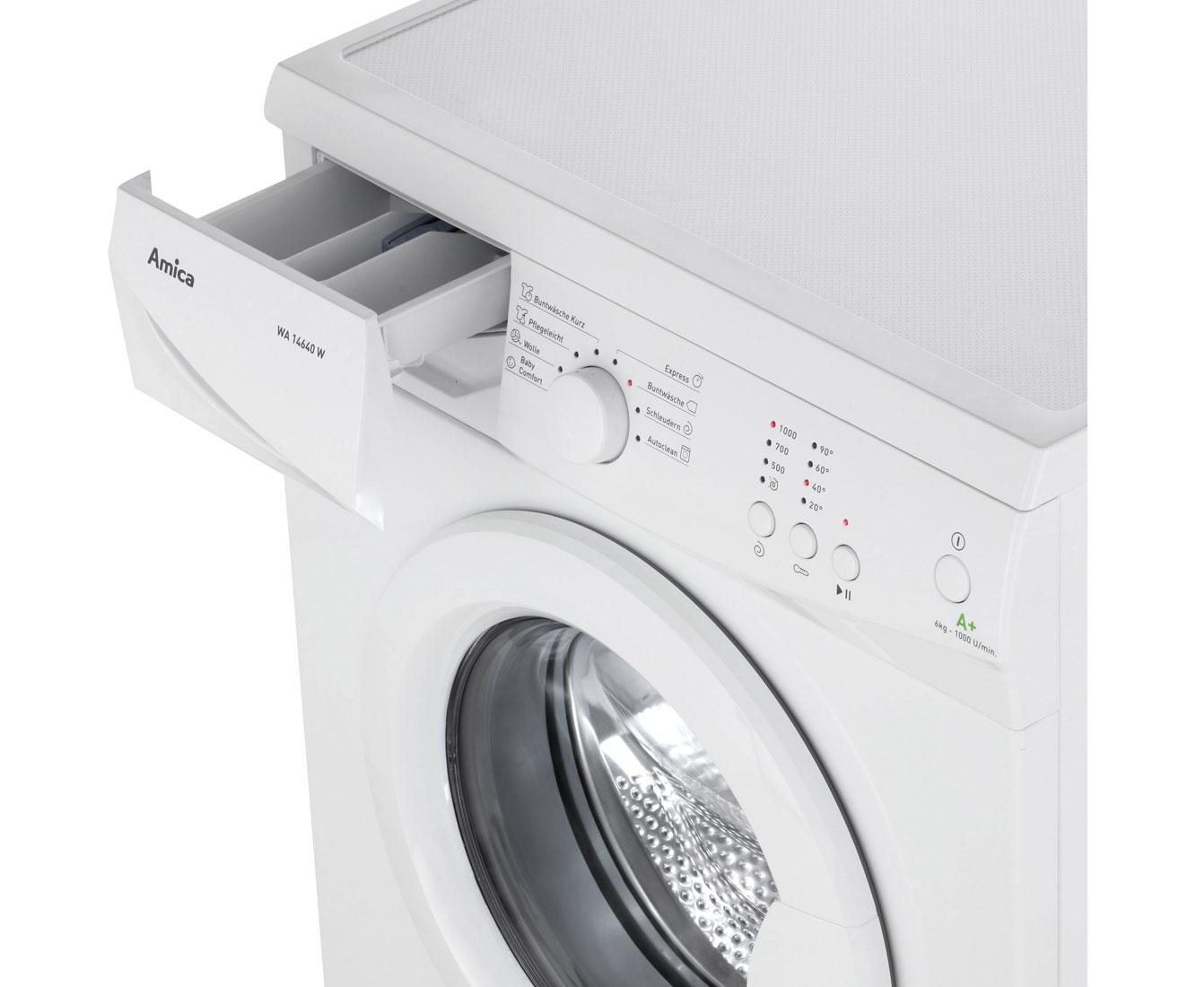 amica wa 14640 waschmaschine freistehend weiss neu ebay. Black Bedroom Furniture Sets. Home Design Ideas