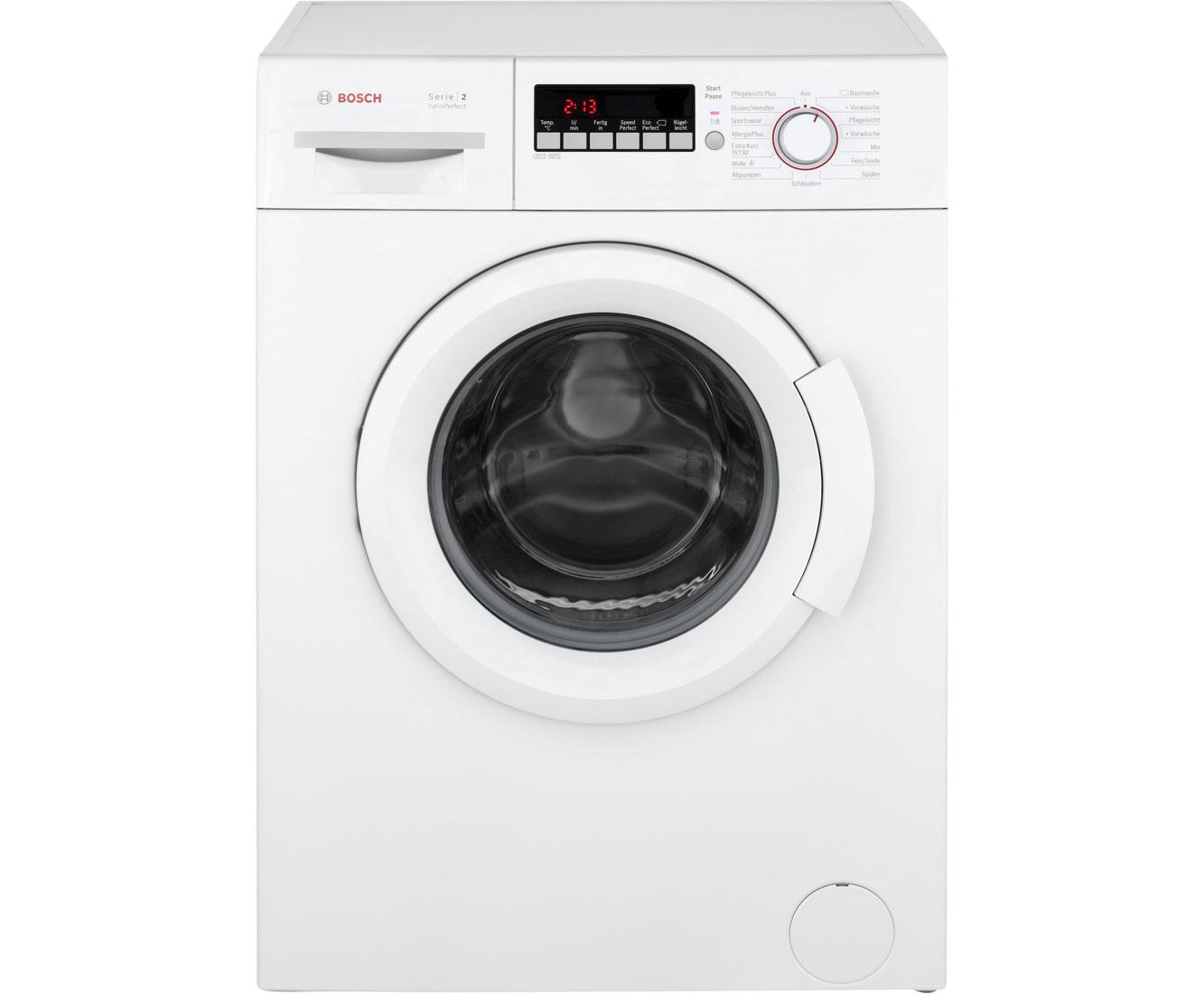 Bosch classixx wab waschmaschine kg u min a