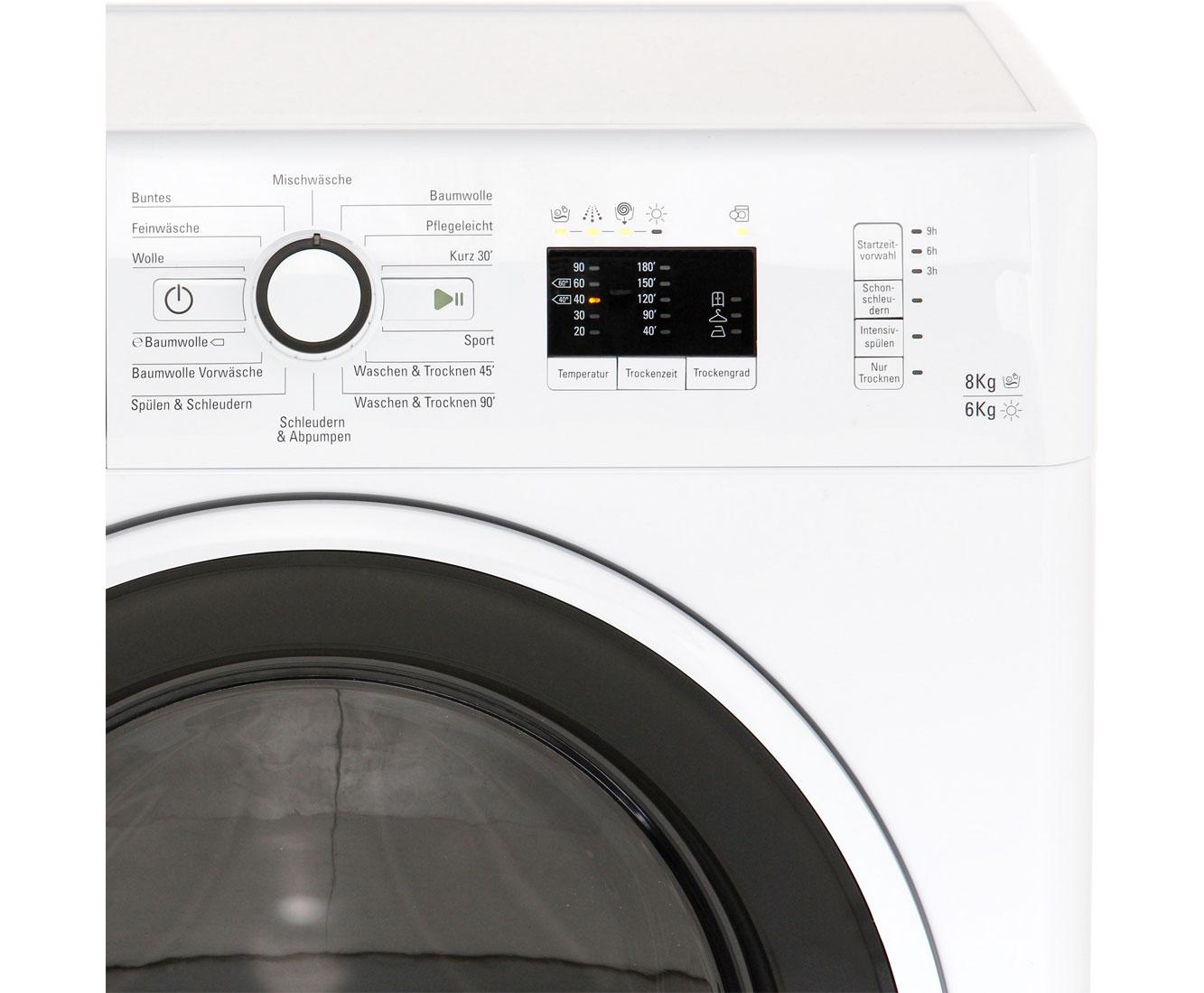 Bauknecht watk prime 8612 waschtrockner 8 kg waschen 6 kg