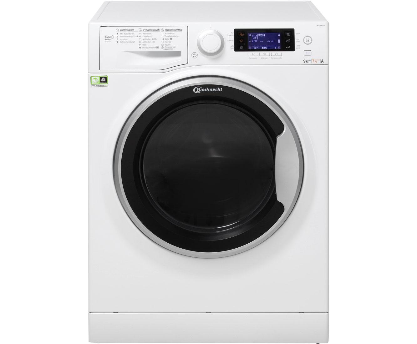 Bauknecht Watk Sense 97d6 Eu Waschtrockner 9 Kg Waschen 7 Kg