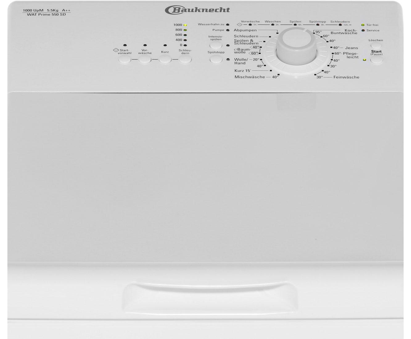 bauknecht wat prime 550 sd waschmaschine freistehend wei neu ebay. Black Bedroom Furniture Sets. Home Design Ideas