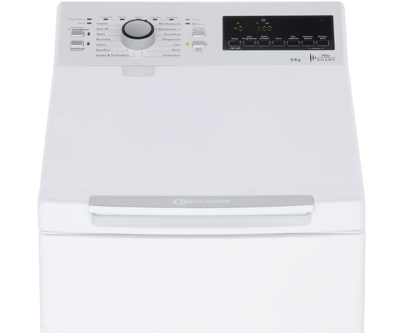 Bauknecht wat prime 652 ps waschmaschine toplader 6 kg 1200 u min