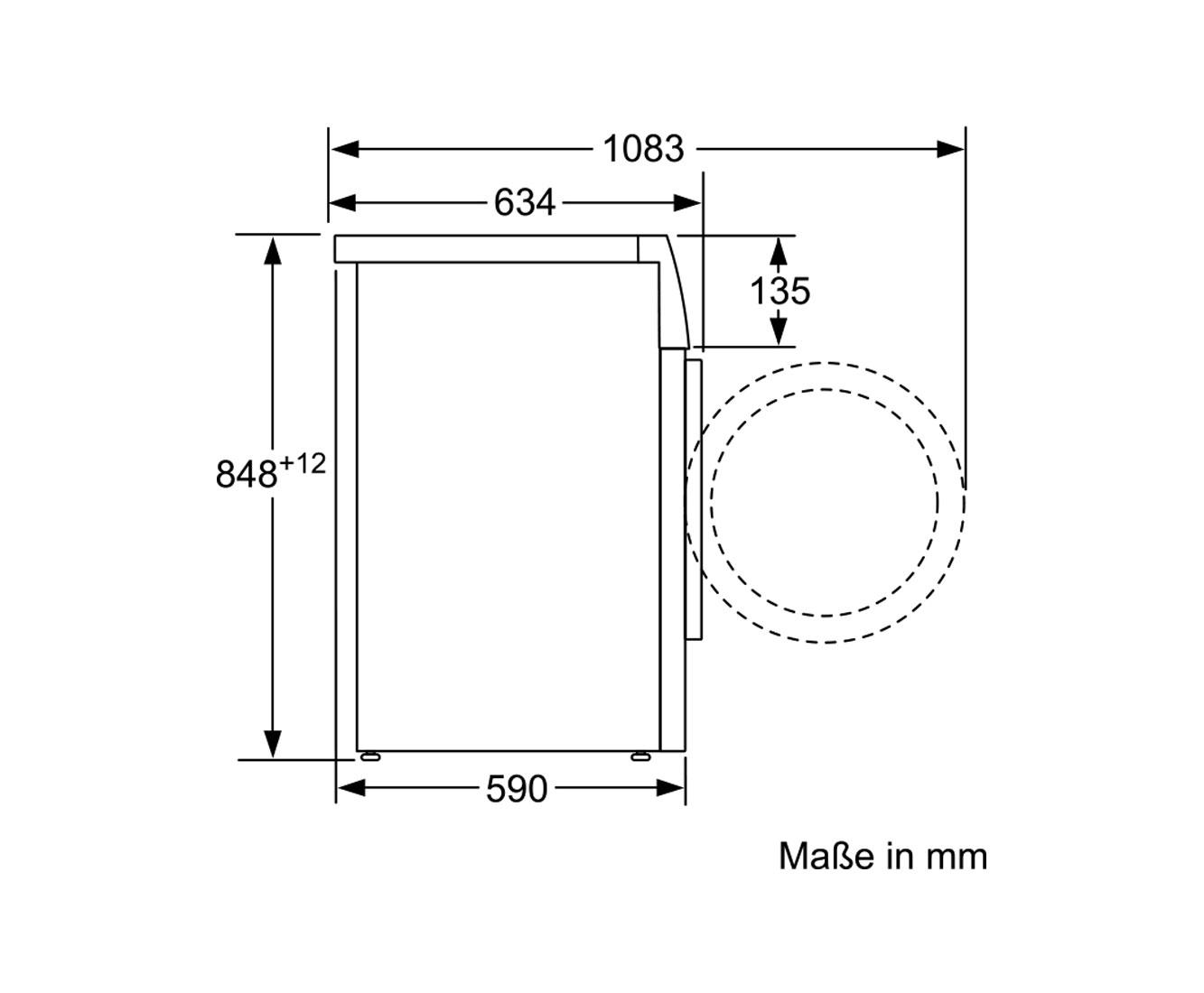 Bosch Serie 8 WAW28570 Waschmaschine - Weiß, 8 kg, 1350 U/Min, A+++