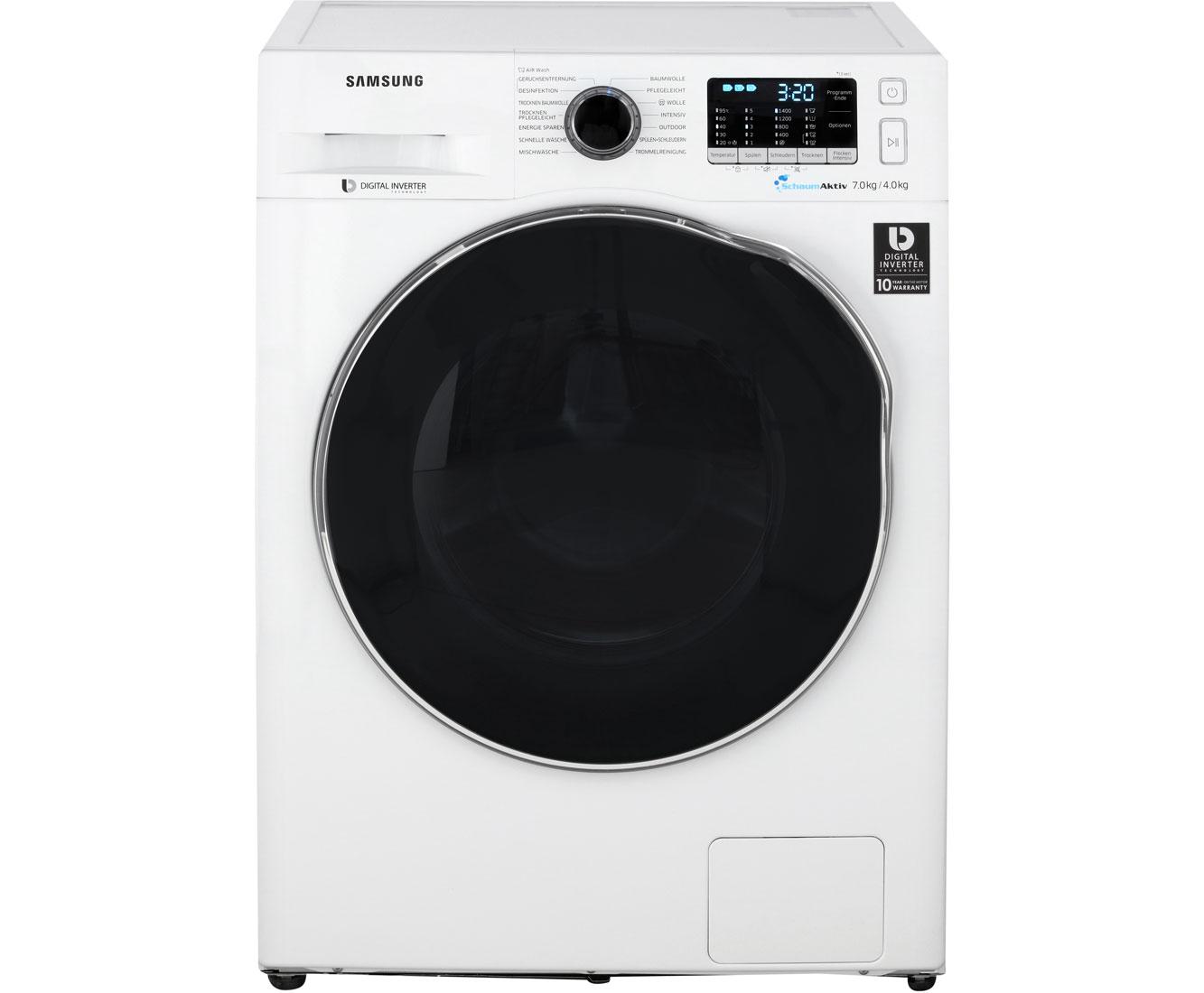 Samsung wd72j5a00aw eg waschtrockner 7 kg waschen 4 kg trocknen