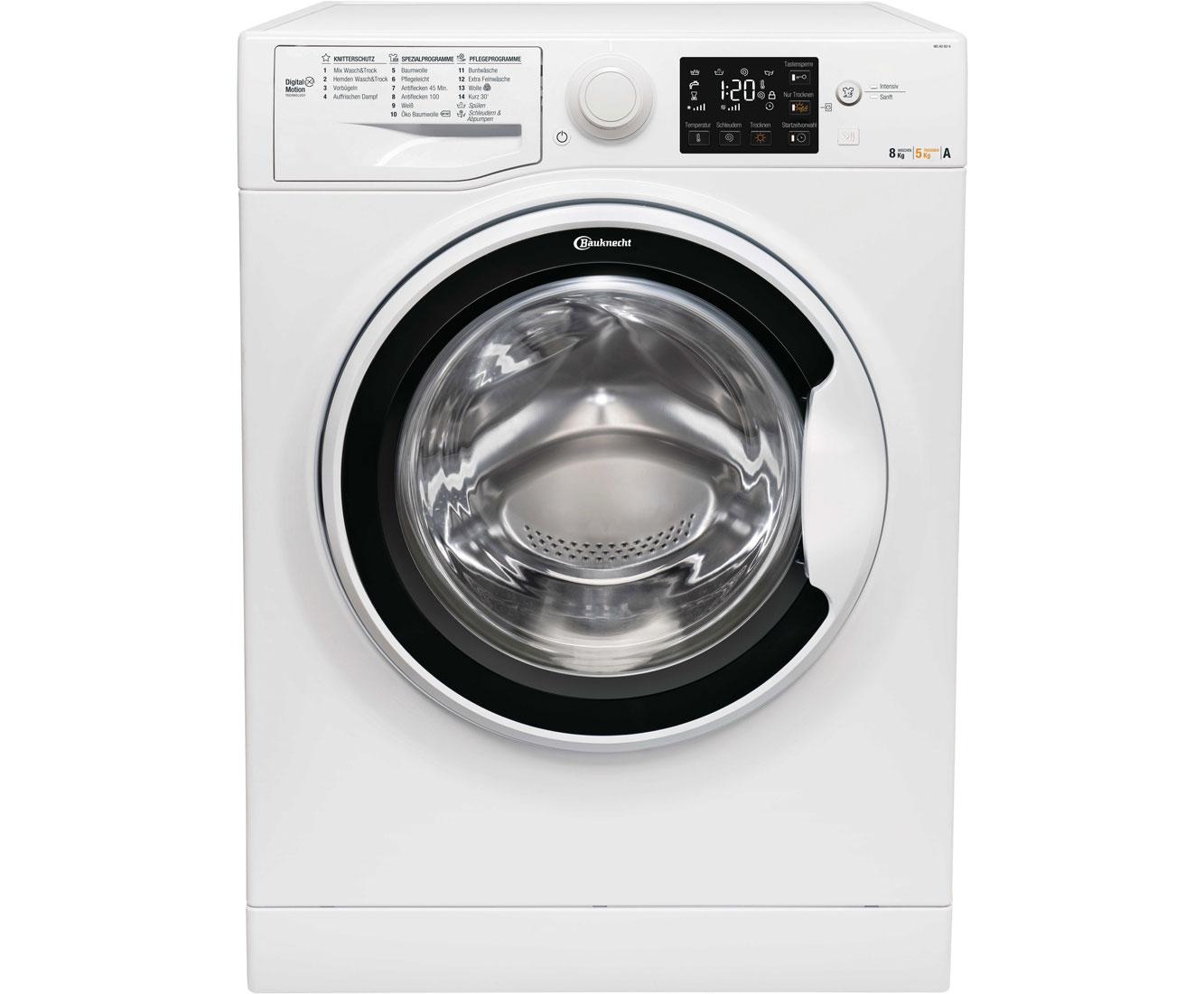 Bauknecht wd ao 8514 waschtrockner 8 kg waschen 5 kg trocknen