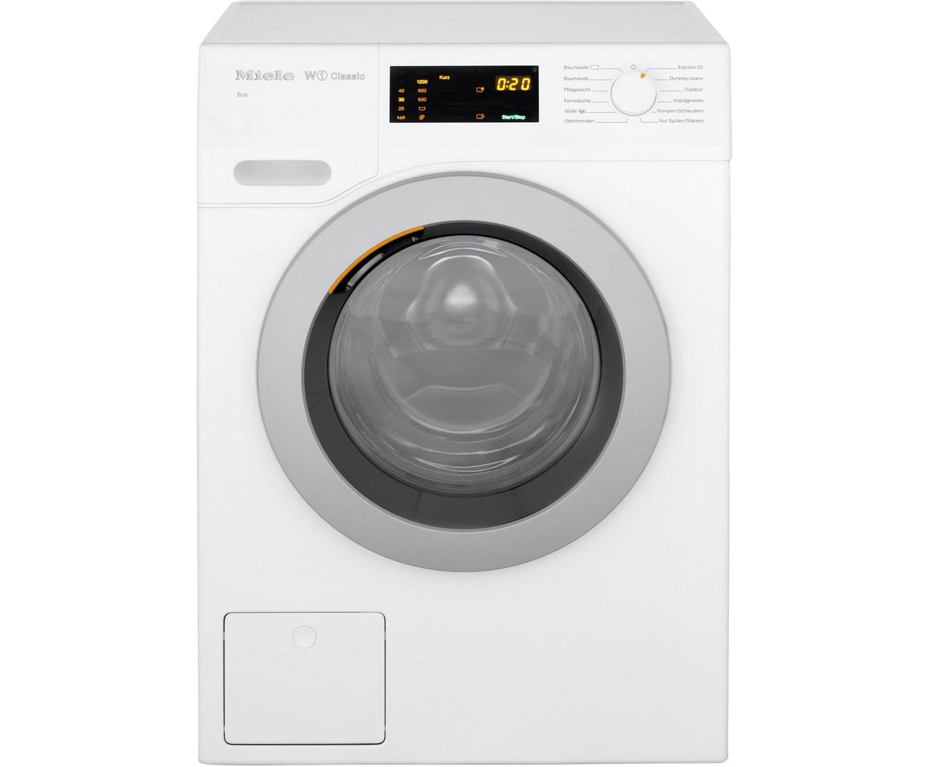 Miele wdb wcs waschmaschine kg u min a