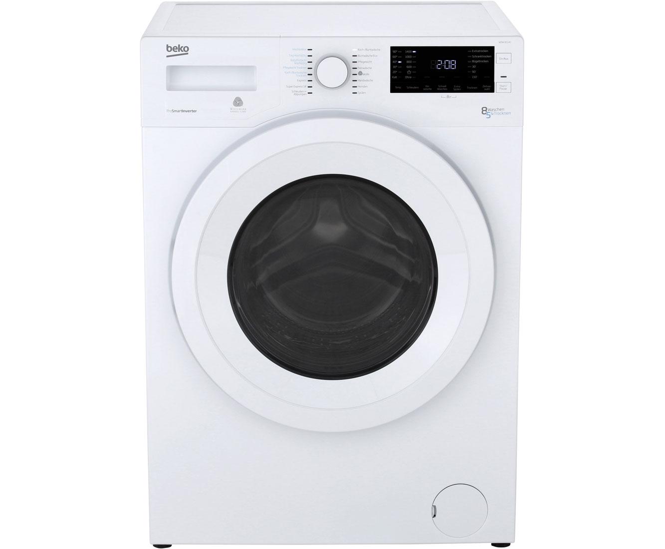 Beko WDW 85140 Waschtrockner Green line-Serie Weiß | eBay