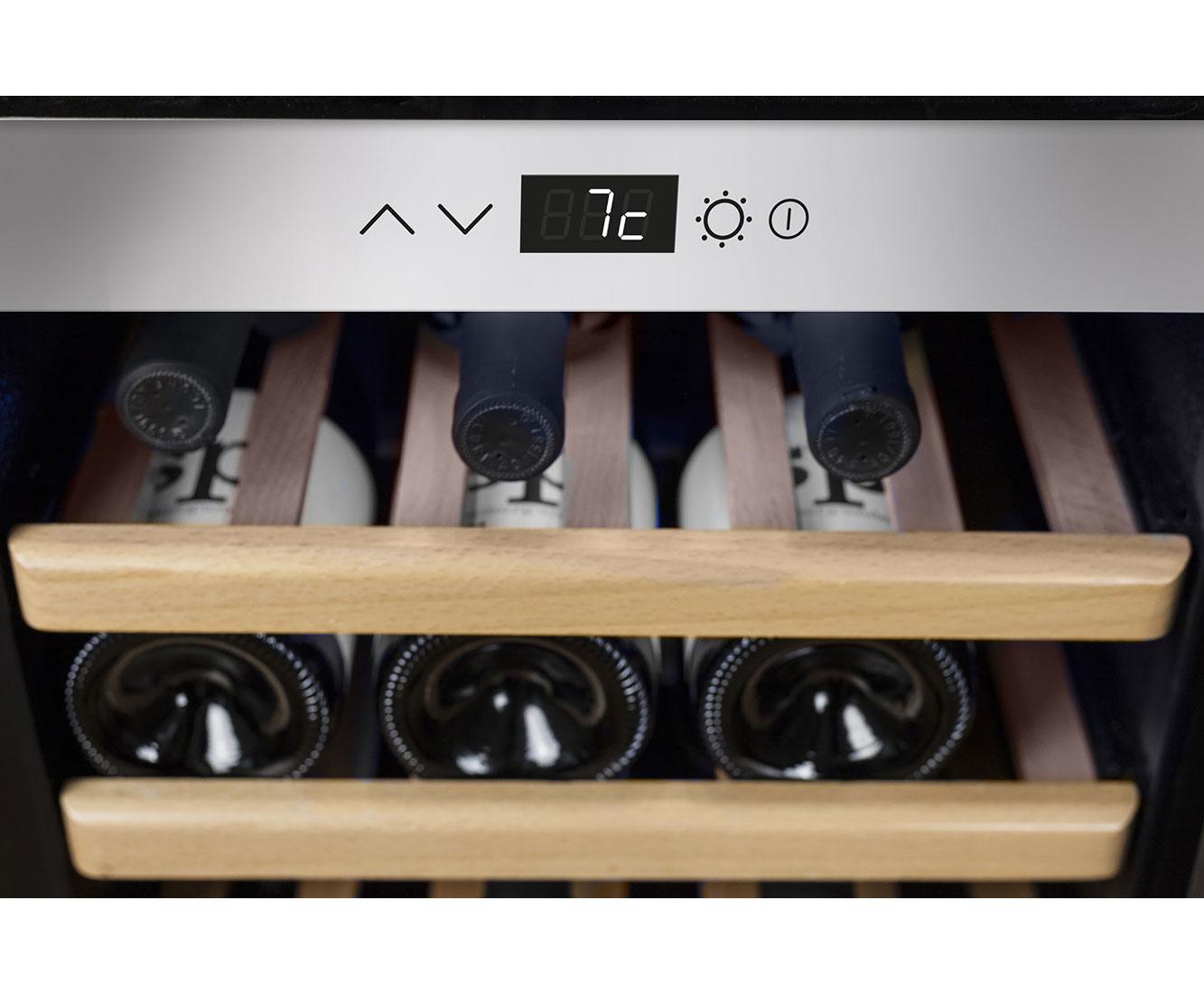 Caso Winecomfort 38 Weinkuhlschrank Fur 38 Flaschen Edelstahl