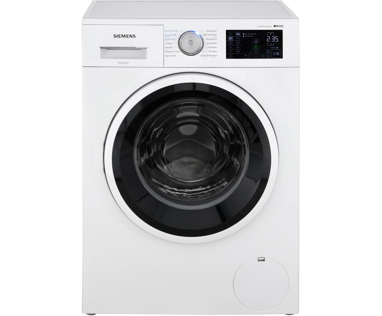 Siemens iq500 wm14t720 waschmaschine mit sensofresh 8 kg 1400 u