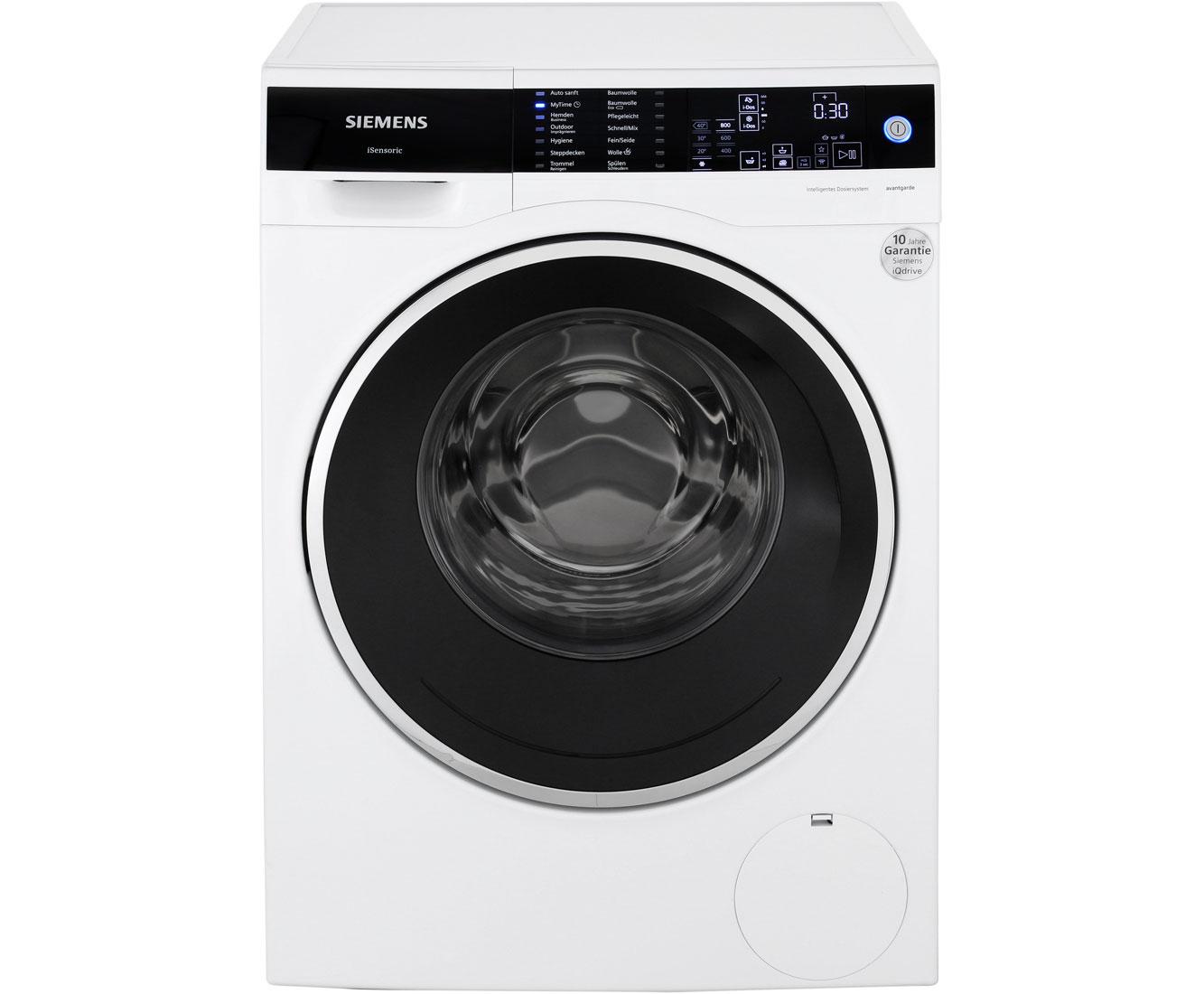 siemens iq700 wm14w5fcb isensoric premium waschmaschine a 1400 upm 9 kg wei. Black Bedroom Furniture Sets. Home Design Ideas