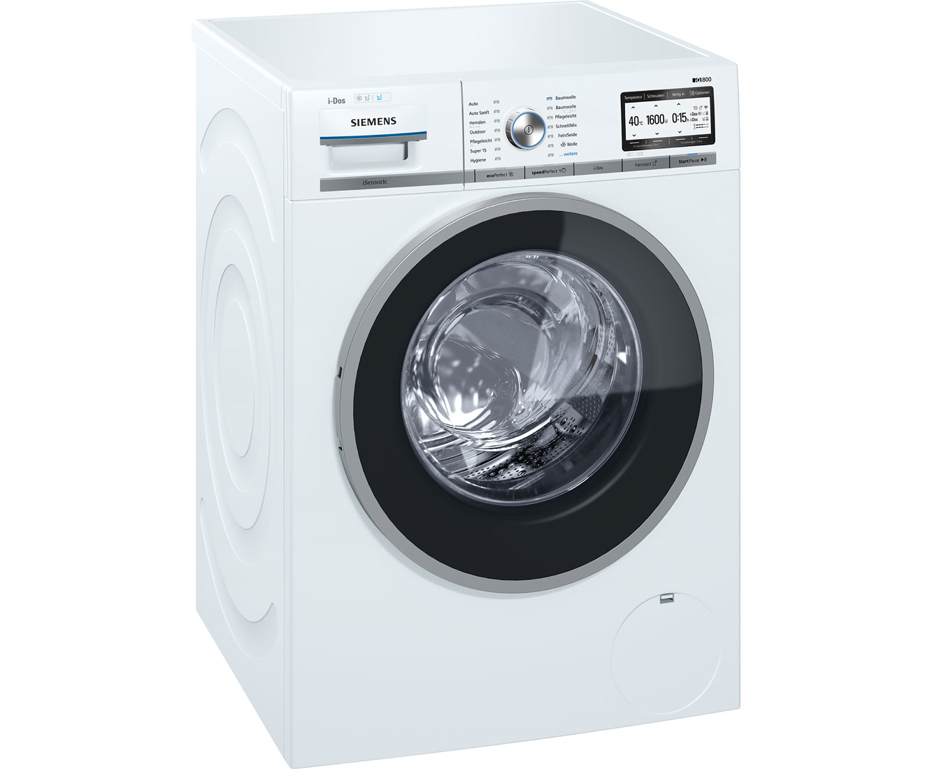 Siemens iq800 wm6yh841 waschmaschine 8 kg 1600 u min a