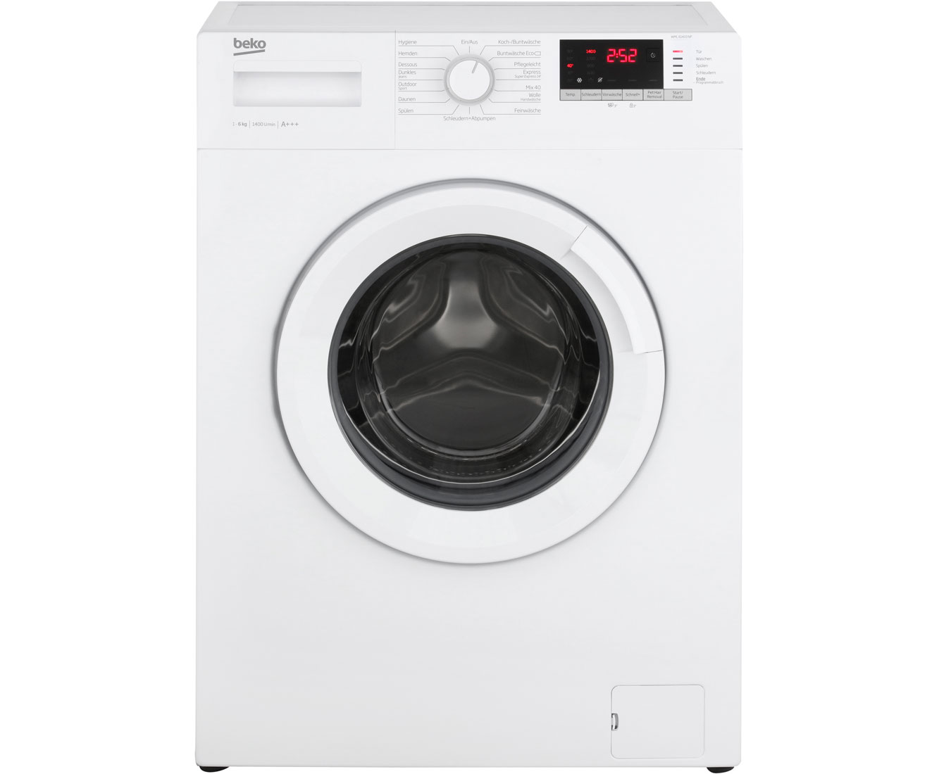 Beko wml np waschmaschine kg u min a