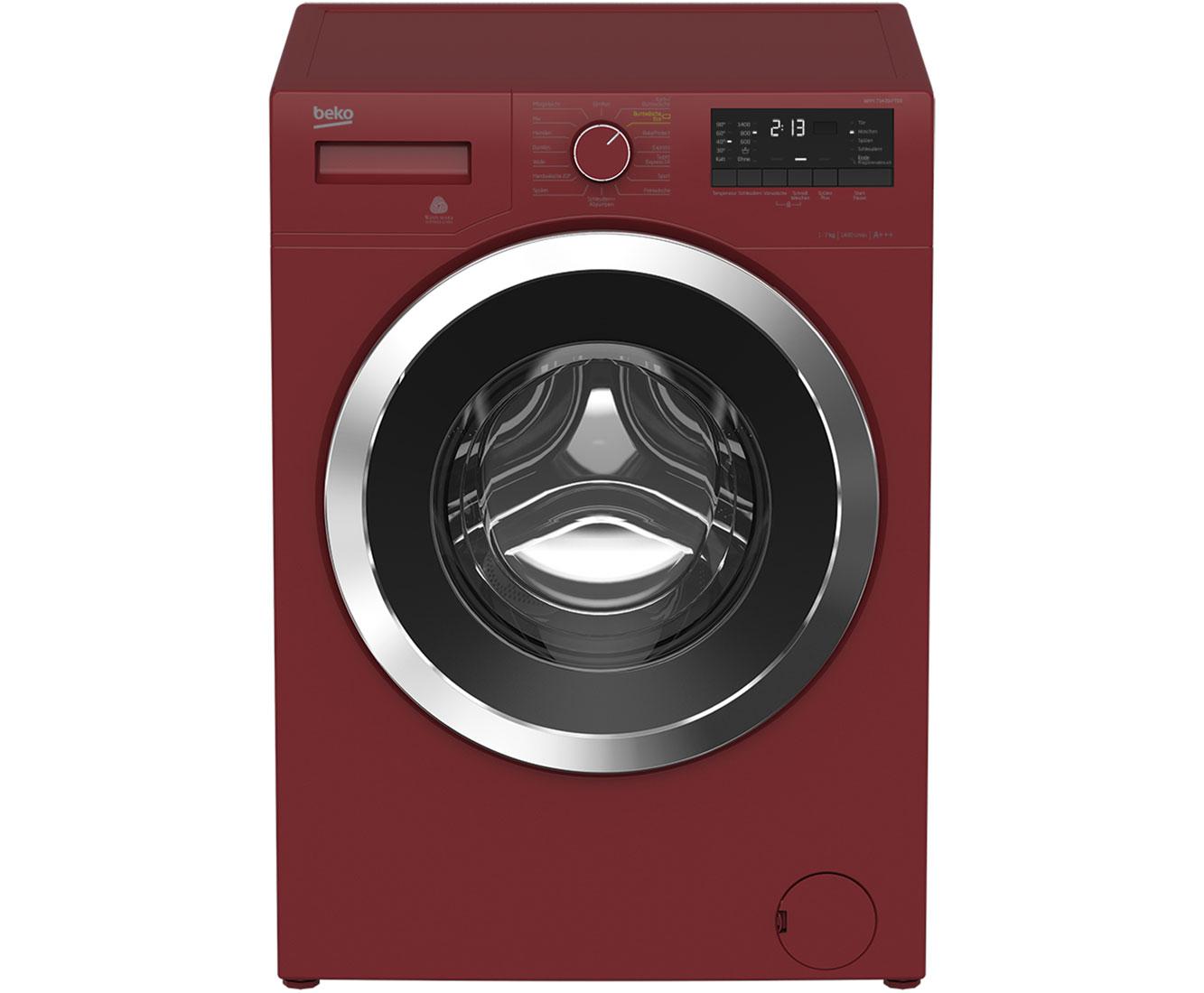 Beko wmy pter waschmaschine rot kg u min a