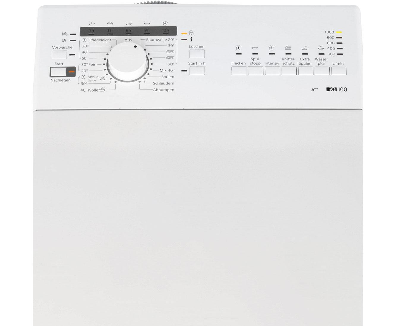 Siemens iQ100 WP10R156 Waschmaschine Toplader, 6 kg, 1000 U/Min, A++