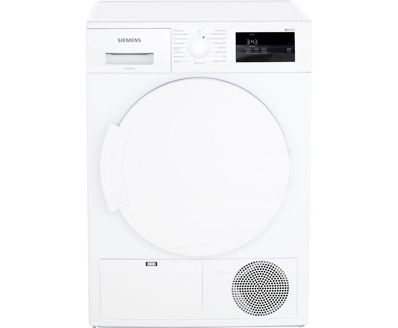 Siemens IQ300 WT43H000 Wärmepumpentrockner   7 Kg, Weiß, A+
