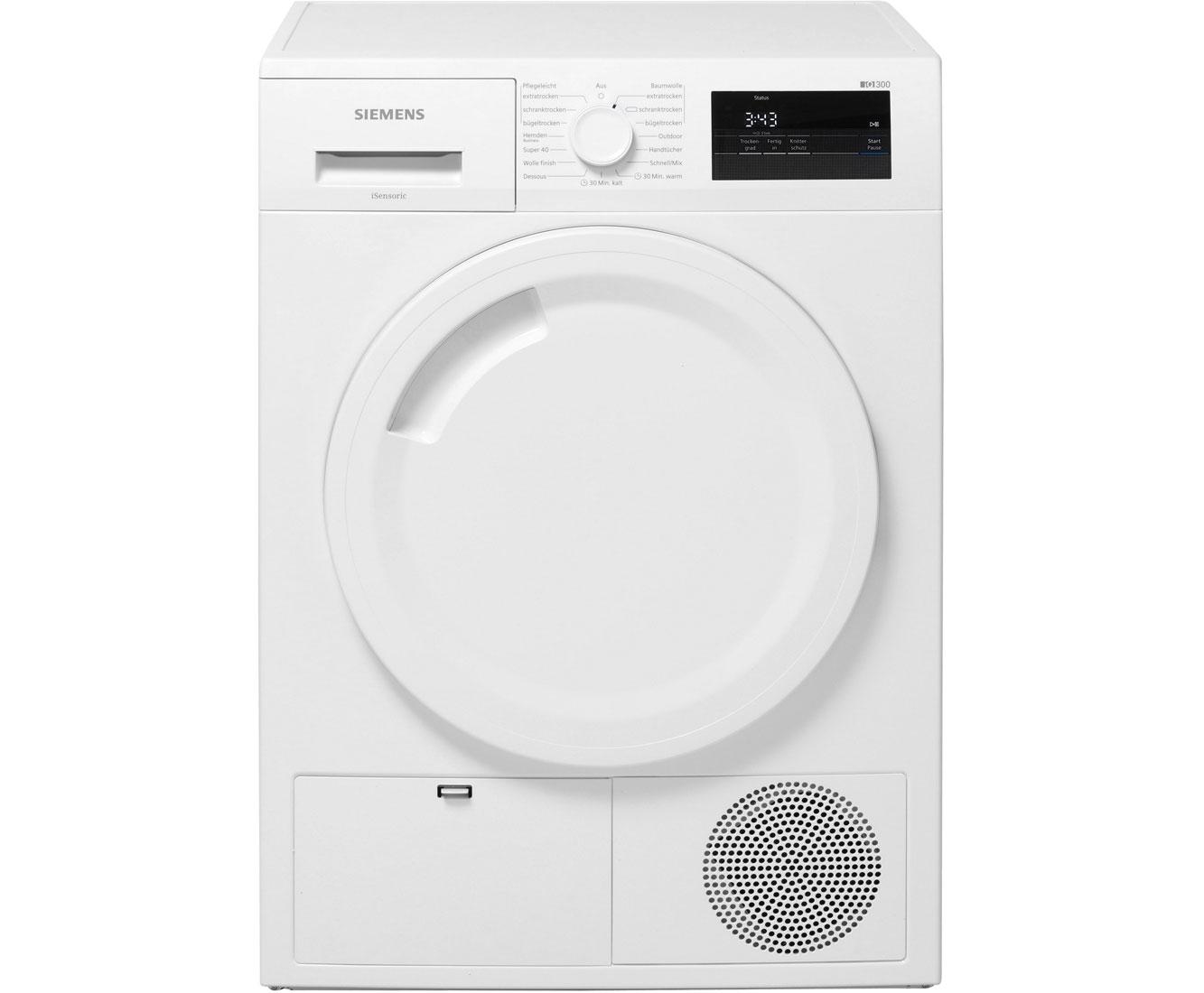 Siemens iQ300 WT43H001 Wärmepumpentrockner - Weiß | Bad > Waschmaschinen und Trockner > Wärmepumpentrockner | Weiß | Siemens