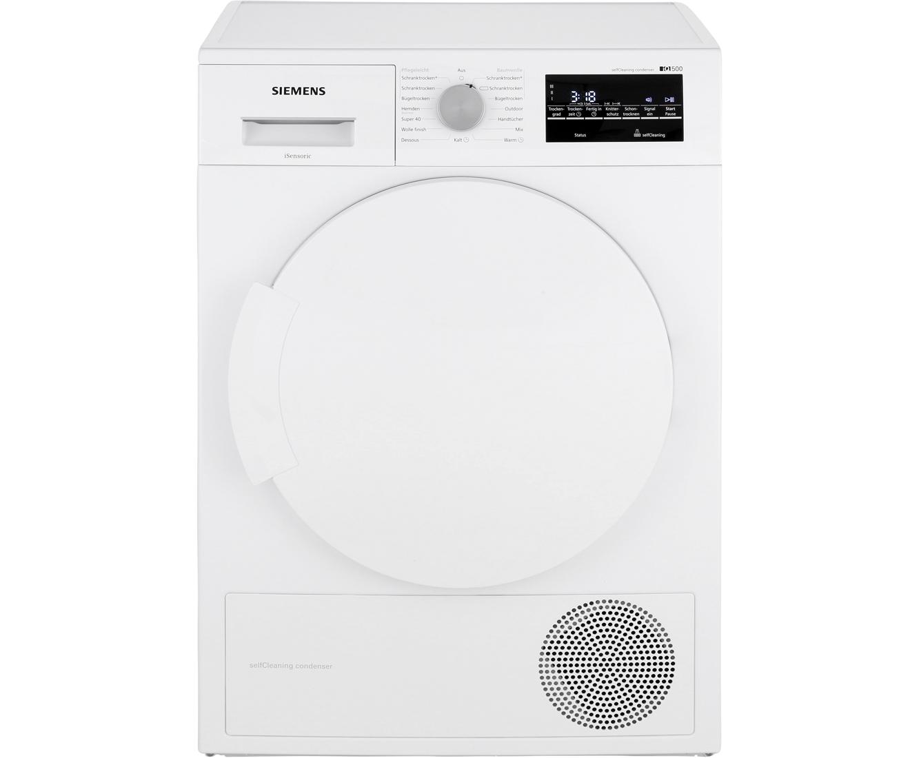 Siemens iq500 wt43w460 wärmepumpentrockner 7 kg weiß a