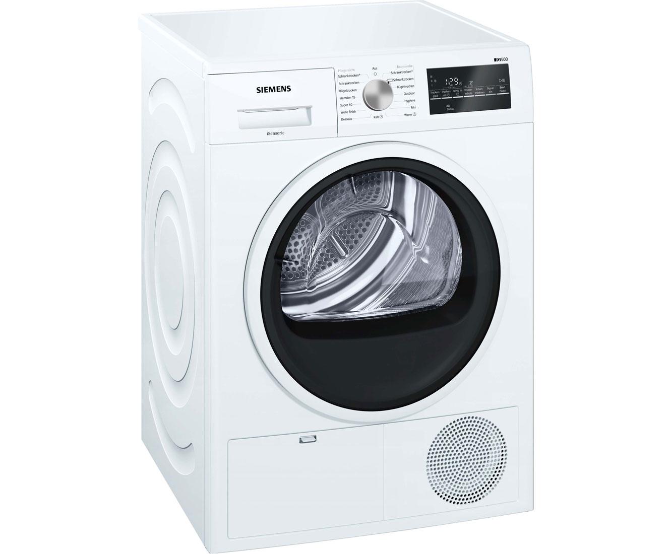 Siemens iq wt g kondenstrockner kg weiß