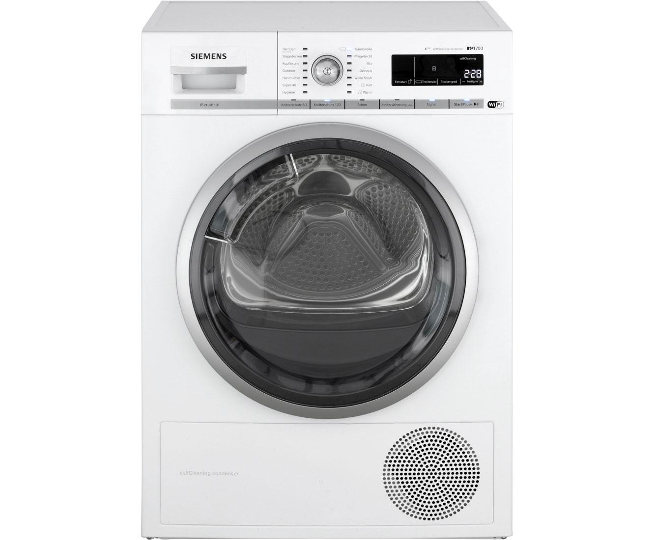 Siemens wt7wh540 wärmepumpentrockner 8 kg weiß a