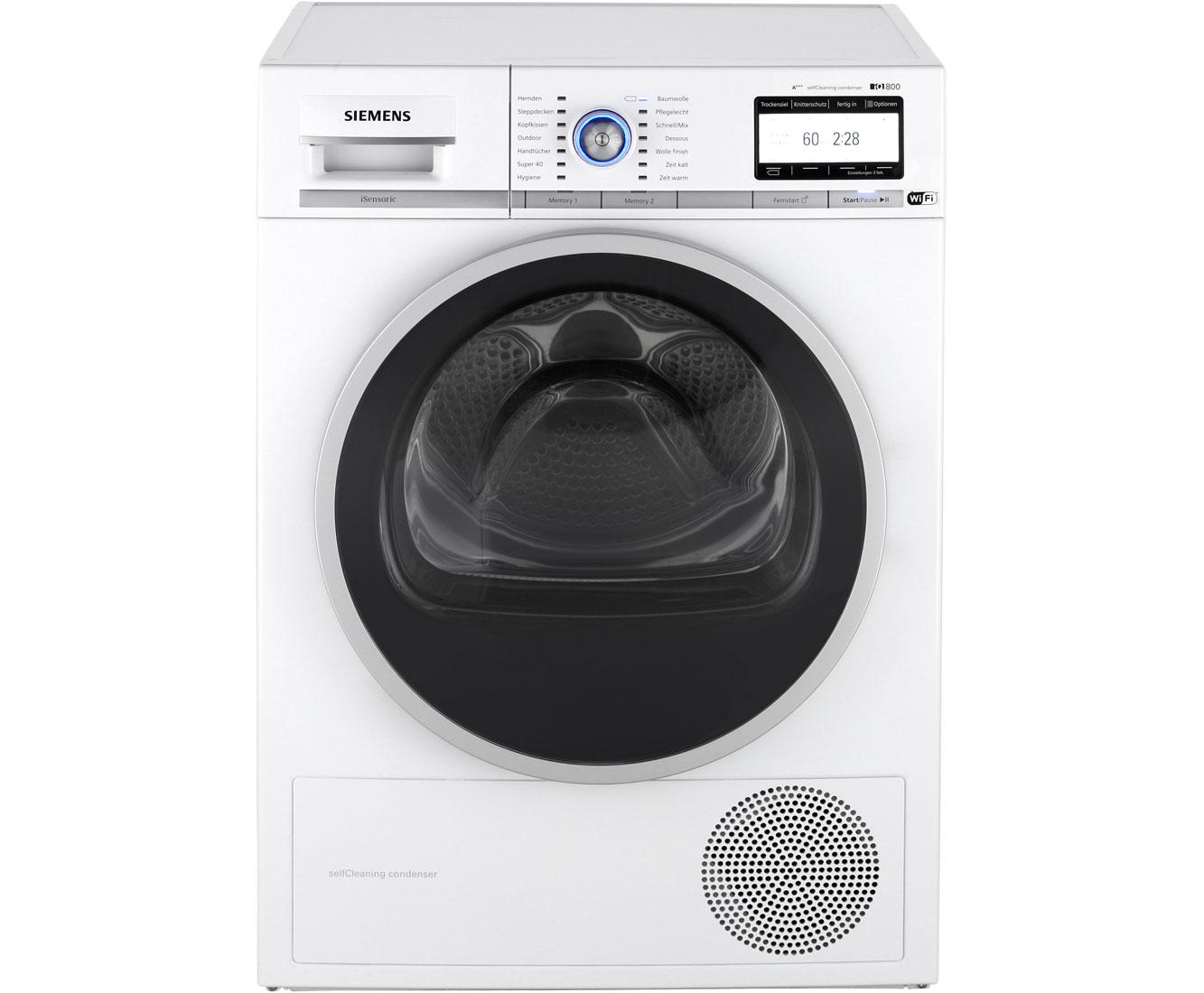 Siemens iQ800 WT7YH701 Wärmepumpentrockner - Weiß | Bad > Waschmaschinen und Trockner > Wärmepumpentrockner | Weiß | Siemens