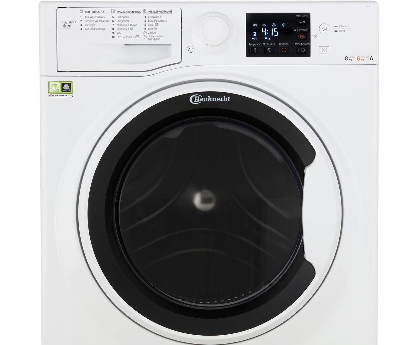 Bauknecht wt 86g4 de waschtrockner 8 kg waschen 6 kg trocknen