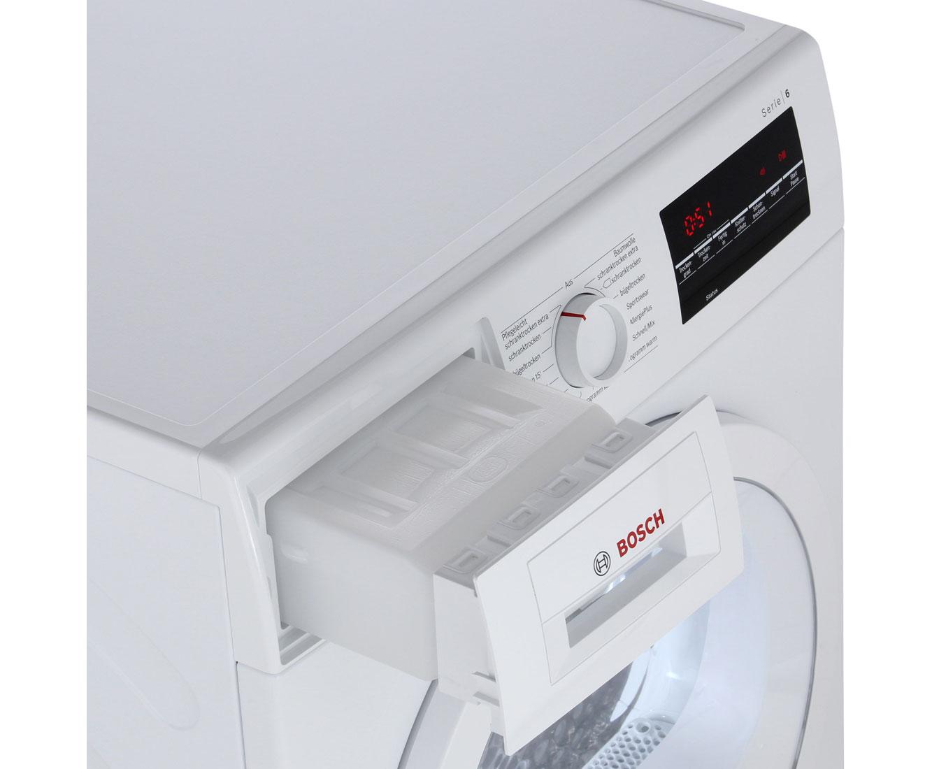 Bosch serie wtg kondenstrockner kg weiß