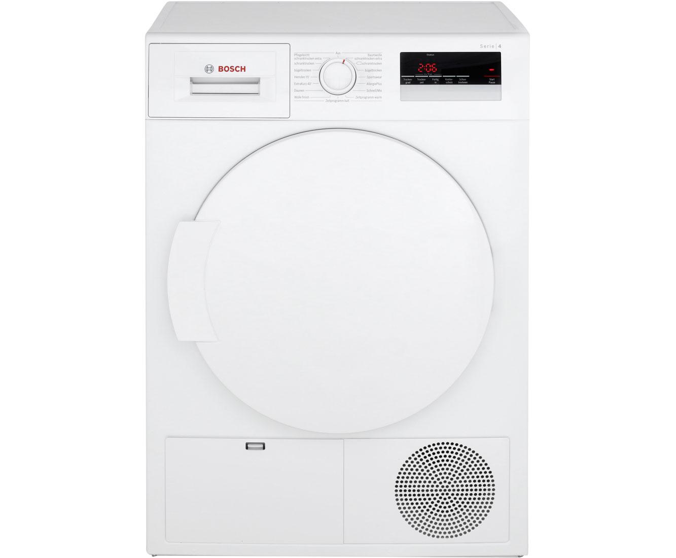 Bosch serie wtn kondenstrockner kg weiß