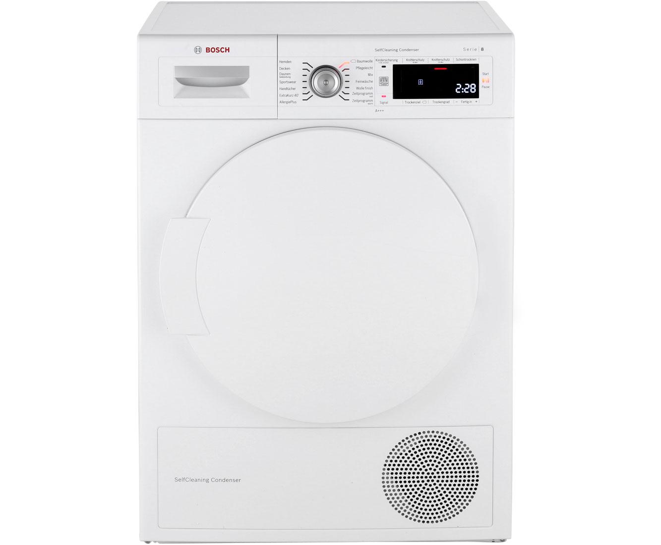 Bosch Serie 8 WTW845W0 Wärmepumpentrockner - Weiss | Bad > Waschmaschinen und Trockner | Weiss | Bosch