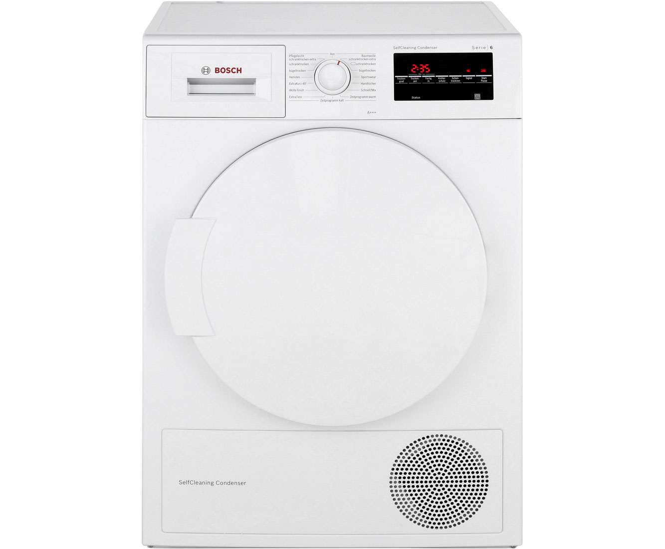 Bosch serie 6 wtw85463 wärmepumpentrockner 7 kg weiß a