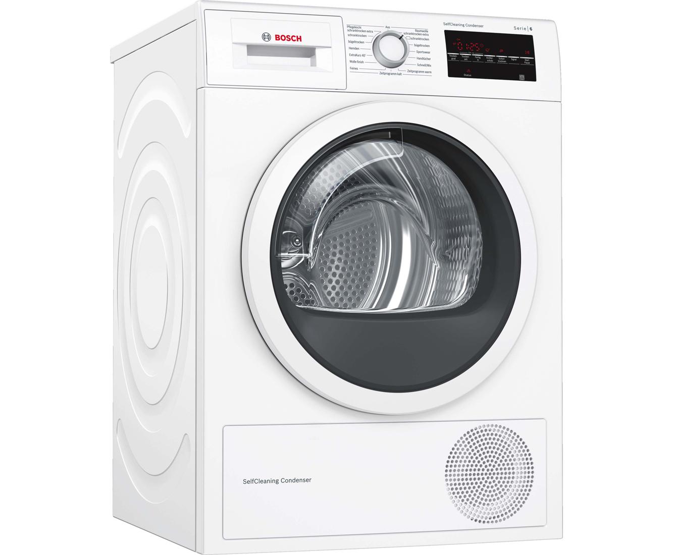 Bosch serie 6 wtw854ka wärmepumpentrockner 8 kg weiß a