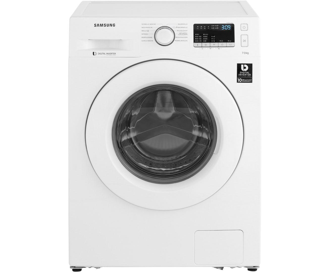 Samsung WW70J44A3MWEG Waschmaschine Weiß, 7 kg, 1400 UMin, A+++