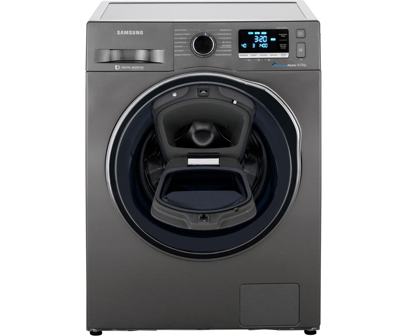 Samsung addwash 6500 ww80k6404qx eg waschmaschine anthrazit 8 kg