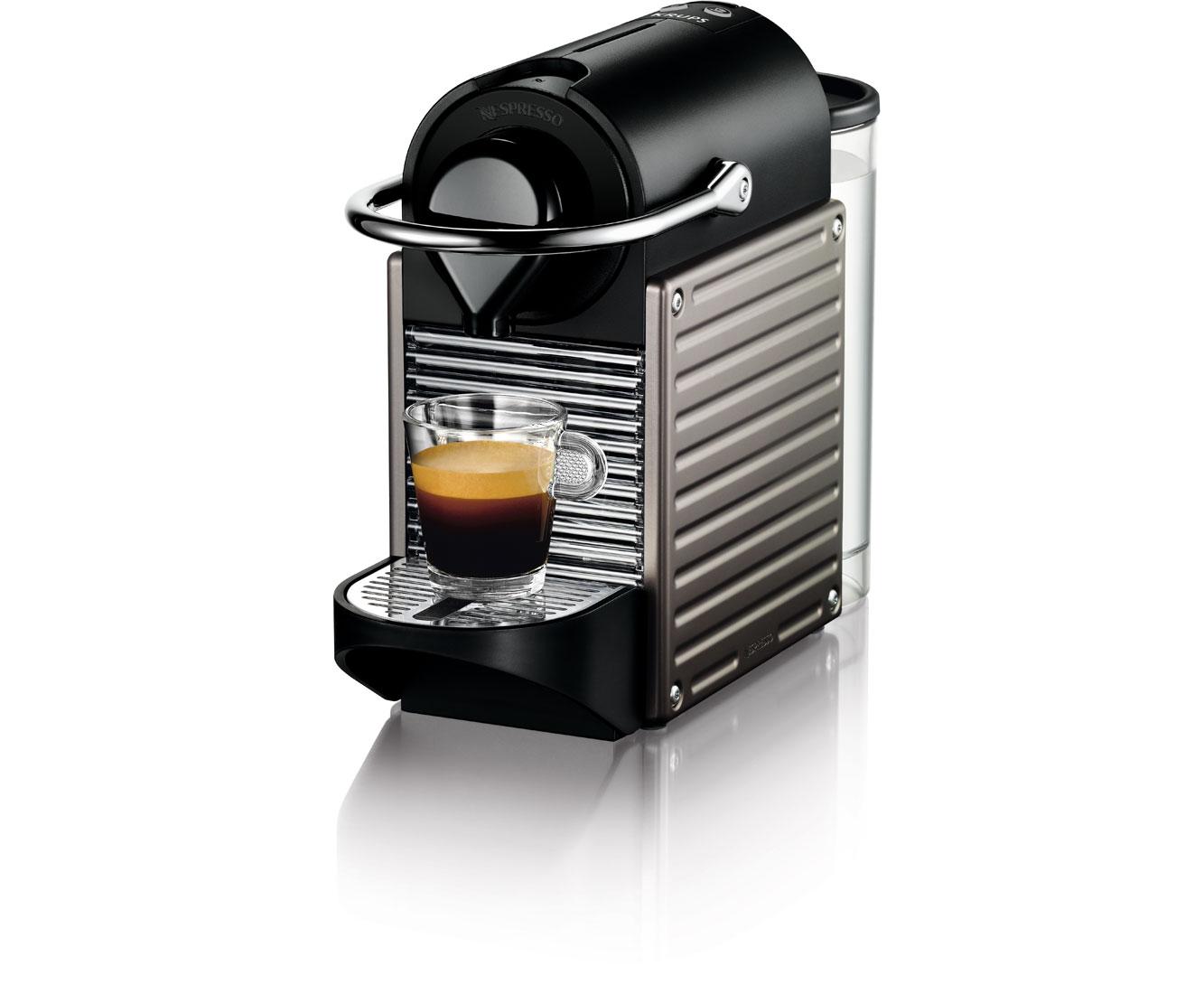 Krups Nespresso Pixie XN 3005 Kaffeemaschinen - Titansilber | Küche und Esszimmer > Kaffee und Tee > Espressomaschinen | Titansilber | Krups Nespresso