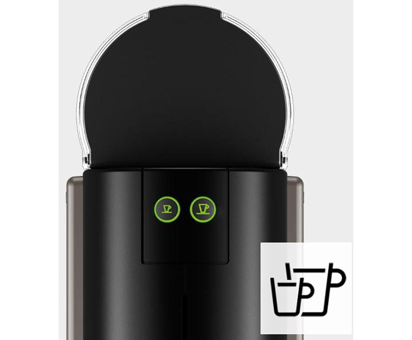 Krups Nespresso Pixie XN304T titan Kapselmaschine