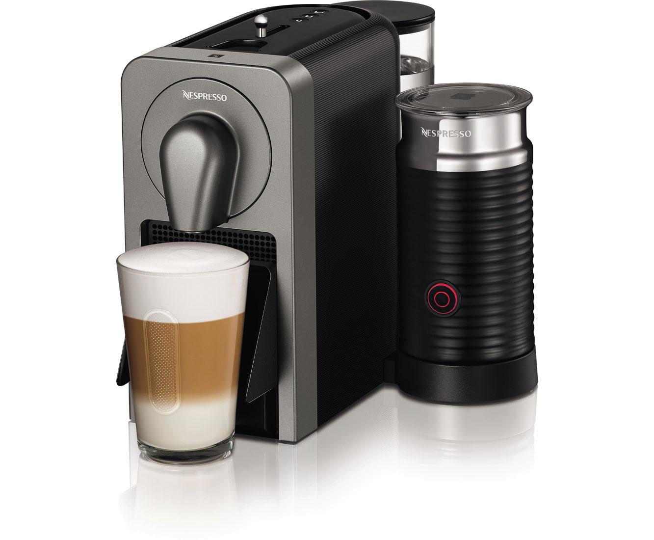 Krups Nespresso Prodigio & Milk XN411T Kaffeemaschinen - Titan | Küche und Esszimmer > Kaffee und Tee > Espressomaschinen | Krups Nespresso
