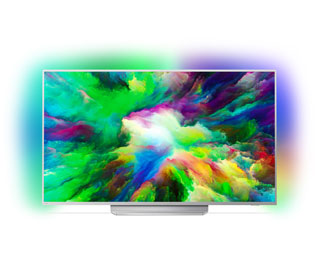 "Philips 7800 Serie - 55PUS7803/12, 4K/UHD, LED, Smart TV, 139 cm [55""] mit HDR10, Ambilight und Android TV - Silber - 55PUS7803/12_SEL - 1"