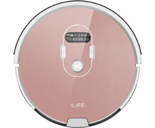 ILIFE Beetles A7 Saugroboter mit Anti Tangle und 150 Minuten Akkulaufzeit - Rosa - Beetles A7_RO - 1