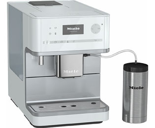 Miele CM 6350 Kaffeevollautomat mit OneTouch for Two und Cappuccinatore - Weiß - CM 6350_WH - 1