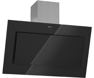 neff d39e49s0 dunstabzugshaube eingebaut 90cm edelstahl schwarzes glas neu ebay. Black Bedroom Furniture Sets. Home Design Ideas