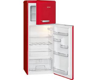 Retro Kühlschrank Bomann : Bomann dtr 353 kühl gefrierkombination 55er breite rot retro