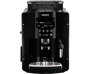 Krups EA8150 Kaffeevollautomat mit Compact Thermoblock System und CappuccinoPlus - Schwarz
