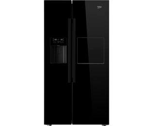 beko gn162430p side by side freistehend schwarz. Black Bedroom Furniture Sets. Home Design Ideas