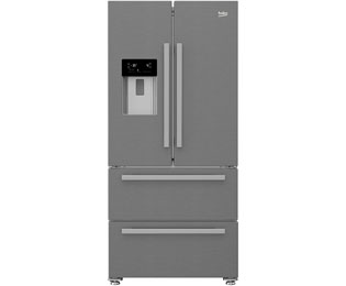 Beko GNE 60530 DX French Door Side-by-Side mit Wasserspender - No Frost - 499 Liter, Edelstahl - A++ - GNE 60530 DX_SS - 1