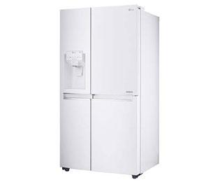 Side By Side Kühlschrank Weiß : Lg gsj swxz amerikanischer side by side mit wasserspender