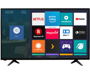 "Hisense H32AE5500, HD Ready, LED, Smart TV, 80 cm [32""] - Schwarz - H32AE5500_BK - 1"