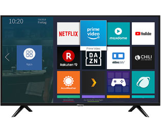 "Hisense H40BE5500, Full HD, LED, Smart TV, 101 cm [40""] - Schwarz - H40BE5500_BK - 1"