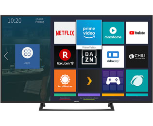 "Hisense BE7200 Serie - H55BE7200, 4K/UHD, LED, Smart TV, 138 cm [55""] mit HDR10, Dolby Audio und VIDAA U - Schwarz - H55BE7200_BK - 1"